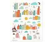 Wide World of Whimsy Illustrated Art Print