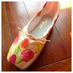 Just Plain Tulips Pointe Shoe by LisaHarrisonDesign on Etsy, $40.00    Free Shipping Code: FREESHIP0512
