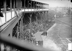 """"""" Game day at West Side Grounds (the Cubs' original park), Chicago. Sports Stadium, Stadium Tour, Yankee Stadium, Baseball Park, Baseball Players, Cubs Team, Mlb Stadiums, Wrigley Field, My Kind Of Town"""
