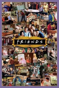 Friends TV Show Photo Collage Poster 2436 Wall Art Print Home Decoration New Tv: Friends, Serie Friends, Friends Moments, I Love My Friends, Friends Forever, Close Friends, Collage Poster, Poster Prints, Poster Poster