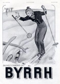 Byrrh (Drinks) 1933  Skiing, Georges Leonnec