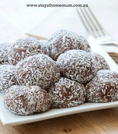 Milo Balls Recipe. Milk Arrowroot Biscuits & condensed milk. Freeze so you don't eat them all at once.