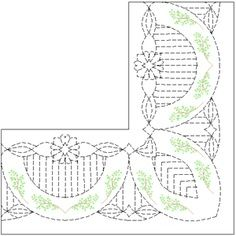 swags and flowers border