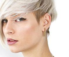 Ohrringe     - goldene Stabohrringe - ein Designerstück von LoveNaomi bei DaWanda