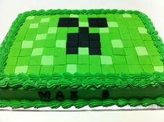 pictures ofmine craft invitations   Minecraft Party Ideas Cake Ideas and Designs