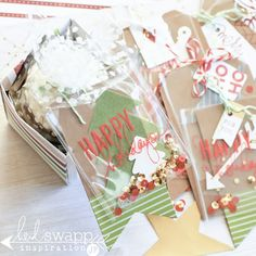 Layer up tags for giving with Heidi Swapp Oh What Fun Collection   @jameipate for @HeidiSwapp
