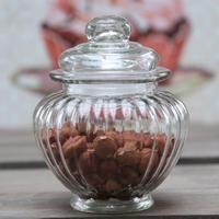 Glas krukke med tætsluttet låg kr. 22,- højde 13 cm diameter 10 cm Klik på foto - for stort - © Vintage-Kompagniet