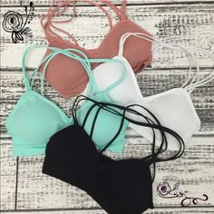 The ATHENA bralette - 6 colors PRICE IS FOR ONE BRALETTESuper comfy & versatile strappy back bralette. Lightly lined. You can rock this & make so many fun looks. ONE SIZE FITS MOST 3 colors available: black  neon pink white dark peach violet royal blue 88% nylon, 12% spandex ‼ ️️NO TRADE, PRICE FIRM‼️ Bellanblue Accessories