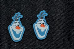 2pc Frozens Olaf Jibbitz Charms fit Wristbands, shoe lace adapters & crocs set 4 #Jibbitz