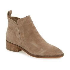 tessey bootie by Dolce Vita. Hidden side gores ensure a sleek, smooth fit for this wear-anywhere leather bootie in a round-toe cut and neutral-hue...