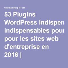 53 Plugins WordPress indispensables pour les sites web d'entreprise en 2016 | Webmarketing & co'm