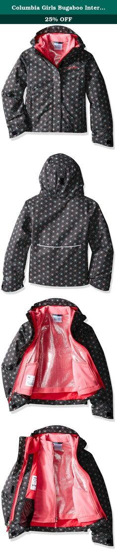 7ab1d2a14 Columbia Girls Bugaboo Interchange Jacket, Large, Black Snowflake. Thermal  reflective technology has been