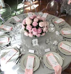 Park-Hotel-Szczecin-dekoracja-weselna-różowe-piwonie-małe-3 Table Settings, Table Decorations, Wedding Dresses, Flowers, Weddings, Park, Home Decor, Bride Dresses, Bridal Gowns
