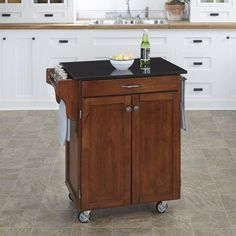 August Grove Savorey Kitchen Cart with Granite Top & Reviews   Wayfair