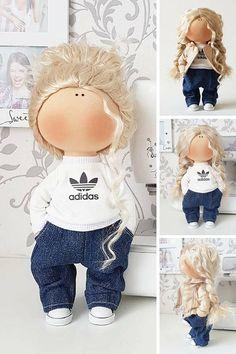 Textile doll Poupée Fabric doll Tilda doll Nursery doll Puppen