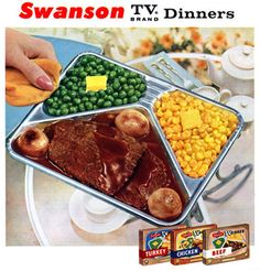 Swansons. I used to burn the crap out of my fingers.  Then I got smart,  popped them out while frozen,put on glass plate then microwave it!!!!