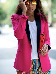 I love bright colored blazers. They're fun. #fuksja #blazer #marynarka