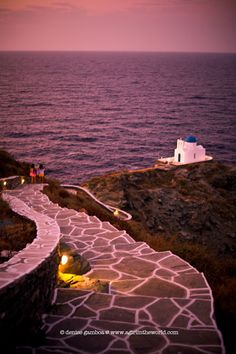 kastro coast in sifnos, greece