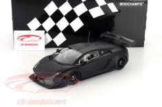 Lamborghini Gallardo LP600+ GT3 2011, matt black. Minichamps, 1/18. Price (2016): 60 EUR.