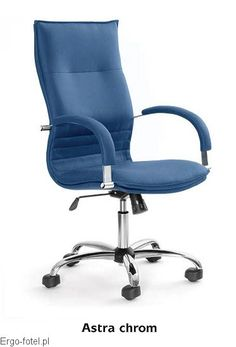 Fotel biurowy Astra Chrom - skóra