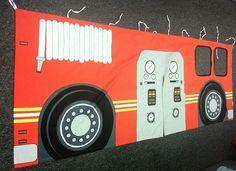 Fire-Truck-Loft-Bunk-Bed-Boy-Bedroom-Storage-Ladder-Curtain-Set