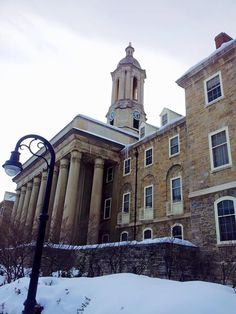 The #OldMains in winter 2013, my first visit to State College, PA