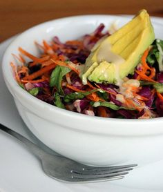 High in fiber, vitamin C, and vitamin A, this raw rainbow salad adds color and flavor to any meal. The wate...