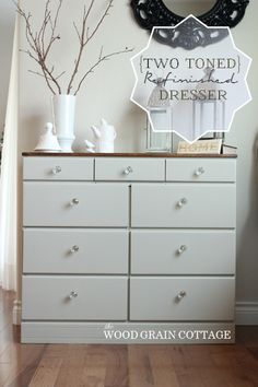 Breakfast Nook Dresser: Two Toned Transformation- How To