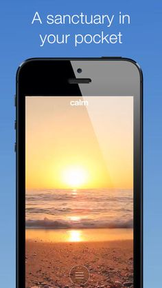 Great app for teens .  Calm is an iPad app and website that allows users to meditate, relax, and collect their thoughts.