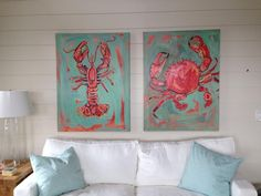 Lobster & Crab Paintings. www.amandanormanstudio.com