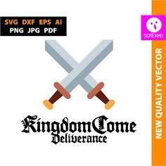KINGDOM COME Deliverance SVG cut files clipart vector logo