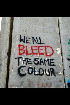 We all bleed same color