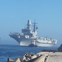 Italian Aircraft carrier Cavour - arriving Cape Town Harbour - 5th February 2014 | by chrisLgodden