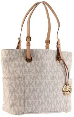 Brand: Michael Kors Color: Vanilla Features: - Boost your signature look with this glam Michael Kors™ tote and you can't go wrong! - Tote-style shoulder bag constructed of logo-embossed PVC. - Open cl