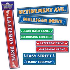 Retirement Sign Cutouts from Windy City Novelties