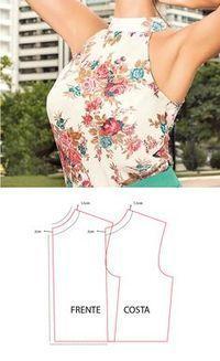 60 New ideas sewing blouse tutorial costura Dress Sewing Patterns, Sewing Patterns Free, Clothing Patterns, Sewing Blouses, Make Your Own Clothes, Diy Clothing, Dressmaking, Diy Fashion, Trends