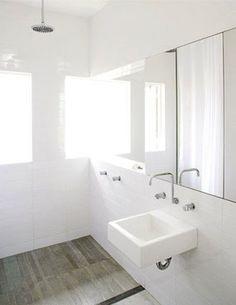 white bathroom (concrete & honey)