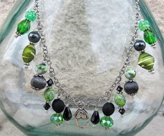 Treasure Keeper Necklace  Slytherin by MadamNina on Etsy, $30.00