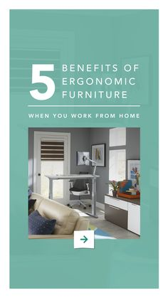 1. Better posture 2. Reduce hip pressure 3. Custom comfort 4. Increased productivity 5. Eliminate neck + back pain Find the perfect long-term or short-term ergonomic #furniture for your home office via CORT Furniture Rental. Custom Comfort, Reduce Hips, Better Posture, Home Office Desks, Office Style, Office Fashion, Productivity, Furniture, Decor