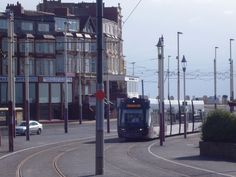 New Bombardier Tram on first day of operation on Fylde Coast, April 4th 2012. Gynn Square, Blackpool..