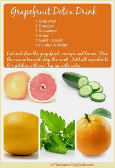 Detox water1 each lemon lime orange bunch of mint leaves and grapefruit detox drink with oranges lemon cucumber and mint grapefruit detox drink with o malvernweather Images
