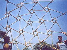 Tied up Bamboo Geodesic Dome by LILD - PUC-Rio Laboratory for Investigation in Living Design at Coroflot.com