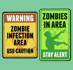 Image result for warning zombie stickers