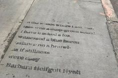 Decorate the outdoor concrete: poetry and quotes which are revealed when it rains.  http://rain.works/
