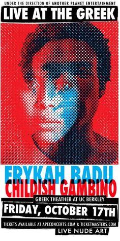 Erykah Badu & Childish Gambino poster