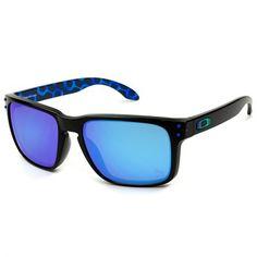 92c9879e88380 Óculos de Sol Oakley Holbrook Rio 2016 Preto com Lente Azul Safira -  OO9102A8