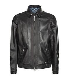 STEFANO RICCI Leather Bomber Jacket. #stefanoricci #cloth #