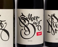 Silber wine label