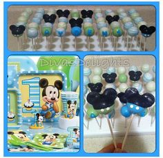 Baby Mickey Mouse cake pops by Diva's Delights #cakepops #divasdelights