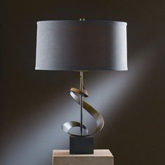 "Hubbardton Forge Gallery 22.9"" Table Lamp Finish: Bronze, Shade Color: Eclipse Micro-suede"